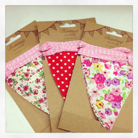 £2 Pretty Floral & Polka Dot Colourful Bunting